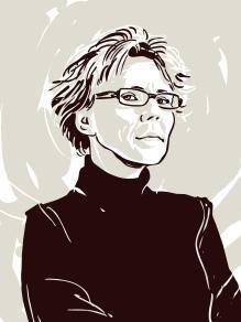 Esther Kinsky, gezeichnet von Kat Menschik